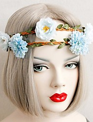 The Rattan Light Blue Flower Headwear