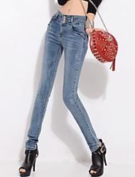 Pantalon Aux femmes Jeans Décontracté / Street Chic Polyester Micro-élastique