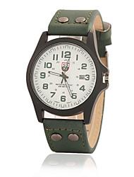 Men's Hot New Fashion Casual Leather Belt Quartz Wrist Watch Cool Watch Unique Watch
