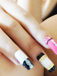 White Lace Sticker PVC Abstract Nail Jewelry