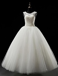 Ball Gown Wedding Dress Floor-length Scoop Tulle