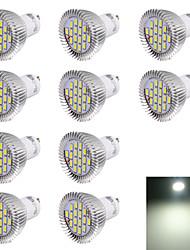 7W GU10 Spot LED R63 16 SMD 5630 560 lm Blanc Froid Décorative AC 100-240 V 10 pièces