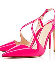 Zapatos de mujer-Tacón Stiletto-Tacones-Sandalias-Boda / Oficina y Trabajo / Fiesta y Noche-Semicuero-Azul / Coral