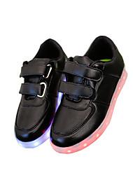 niños 'zapatos al aire libre / sandalias ocasionales de cuero / zapatillas de deporte de moda / negro / blanco atléticos llevó