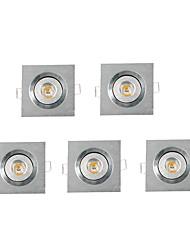 5 pcs MORSEN 3W 1 High Power LED 200-300 LM Warm White Recessed Retrofit DimmableLED Recessed Lights / LED Ceiling Lights / LED Panel