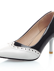 Women's Shoes Stiletto Heel/Pointed Toe/Cap-Toe Heels Party & Evening/Dress Black/Red/White