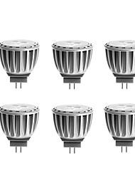 G4 Spot LED MR11 4 SMD 2835 300 lm Blanc Chaud Décorative DC 12 / AC 12 V 6 pièces