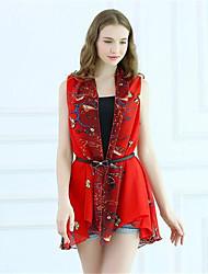 Women's Multicolor,Boho / Holiday / Beach Cowl Sleeveless,Many Ways to Wear
