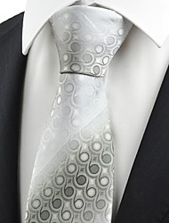 Ash Grey Gradient Swirl Paisley Pattern Men's Tie Necktie Formal Suit Gift KT0048