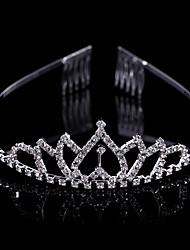 Fashion Crown Head Wreath Head Dress Rhinestone Upturned Heart Shape