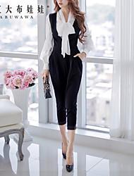 DABUWAWA® Women's Mid Rise Harem Black Wear to work Pants-D14CTR042