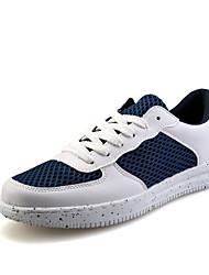 Femme-Extérieure / Décontracté / Sport-Bleu / Blanc / Noir et rouge / Noir et blanc-Talon Plat-ConfortTulle / Microfibre