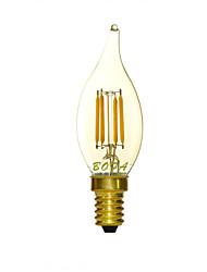 Ampoules Bougies LED Gradable / Décorative Blanc Chaud NO 1 pièce C35 E14 2W 4 COB 100-200 lm AC 100-240 V