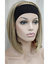 New 3/4 Wig With Headband Women's Short Straight Synthetic Half Wig for Women 9 colors for choose