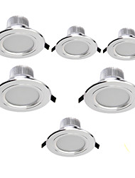 7W Luces LED Descendentes Luces Empotradas 15 SMD 5630 700 lm Blanco Cálido / Blanco Fresco Decorativa AC 85-265 V 6 piezas