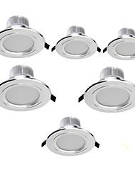 7W LED a incasso Modifica per attacco al soffitto 15 SMD 5630 700 lm Bianco caldo / Luce fredda Decorativo AC 85-265 V 6 pezzi