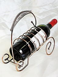 Bottle Rack Decorative Metal Wine Rack Holder Fashion Personality Wine Iron Vintage Decoration Portable Grape Wine Rack