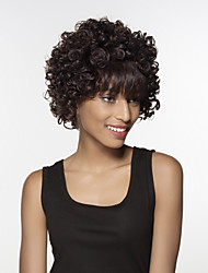 Fashion Short Wavy  Bob Remy Hand Tied Top wig for Woman's