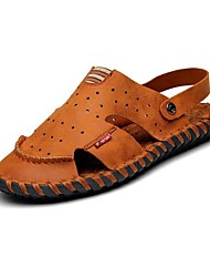 Men's Shoes Outdoor / Office & Career / Athletic / Dress / Casual Nappa Leather Sandals / Flip-Flops Brown