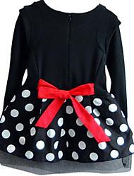 Vestido Chica de-Primavera-Algodón-Negro