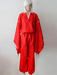 Inspired by InuYasha Inu Yasha Anime Cosplay Costumes Cosplay Suits Kimono Solid Long Sleeve Top Pants Belt For Male Female