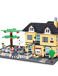 dr 340.530.000 le neue Villa Bau Kunststoff-Blöcke Puzzle Spielzeug zusammengebaut