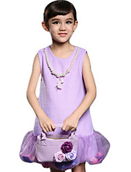 Girl's Pink / Purple / Red Dress Cotton Summer