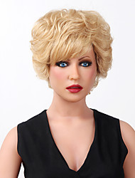 Stunning Capless Super Short Curly Highlights Human Hair Wigs 9 Colors to Choose