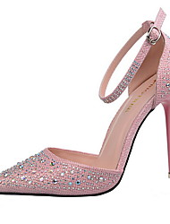 Women's Shoes Stiletto Heel Heels / Pointed Toe / Closed Toe Sandals Dress Black / Pink / Silver / Gray / Gold
