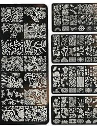 1шт ногтей печать поделки металлических пластин цветы, лес-bc11-20