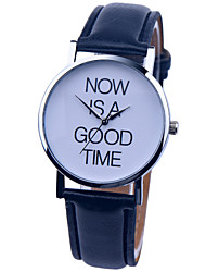 Vintage Watch NOW IS A GOOD TIME Leather Watch Womens Watch Ladies Watch Mens Watch Unisex Watch Cool Watches Unique Watches