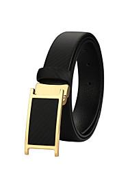 Men Calfskin Waist Belt , Vintage / Party / Work / Casual Brass