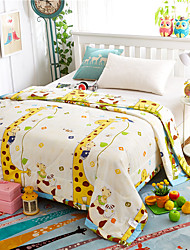 Giraffe Paradise High-end 100% Cotton Air Conditioning Quilt summer Cool Quilt Full/Queen Size