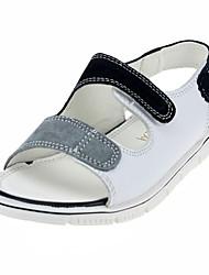Zapatos de bebé-Sandalias-Boda / Exterior / Vestido / Casual-Cuero-Negro / Blanco
