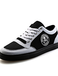 Men's  Casual Canvas Fashion Sneakers Students Shoes Black / Red / White