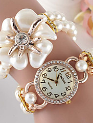 Women's Fashionable Leisure Simple Pearl Flower Bracelet Watches Cool Watches Unique Watches