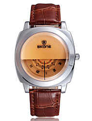 SKONE® Women's Watch Fashion PU Leather Band Wrist Watch Quartz Movement Waterproof Watches for ladies