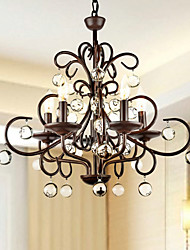 MAX:60W Chandelier ,  Traditional/Classic Painting Feature for Crystal Metal Bedroom / Dining Room / Study Room/Office / Hallway