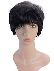 Female short hair wig straight hair wig middle-aged women temperament fluffy short straight hair