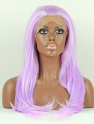 Fashion Synthetic Wigs Lace Front Wigs 24inch Straight Purple Heat Resistant Hair Wigs Women