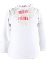 Girl's White Blouse,Bow Cotton Winter / Spring / Fall