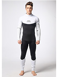 Men's Diving Suit Wearable / YKK Zipper / Thermal / Warm Drysuits  3 to 3.4 mm White / Black S / M / L /XL/XXL