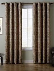 Chadmade SOFITEL Contemporary Heat Tranfer Print Abstract Stripe Pattern - Lined Curtain Panel Drapes - Green Stripe