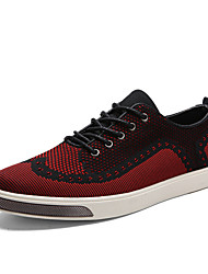 Men's Shoes Fabric Fashion Sneakers Brogue Athletics Black / Blue / Red