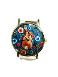orologi da donna orologi coniglietto poco carino, orologi barba, orologi di Ginevra, quarzo in pelle orologio da polso montres idea regalo