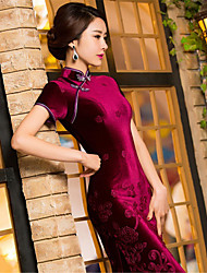 Pleuche Terylene New Year Female Ethnic & Religious China Costumes Dress