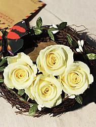 3.5-4.5cm Nine Yellow Roses/Box Preserved Fresh Flowers