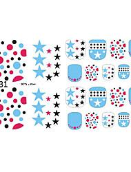 adoráveis unhas brilho 3d adesivos de unhas