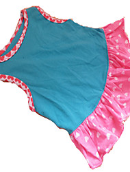 Dog Dress / Clothes/Clothing Blue Summer Hearts Fashion