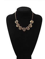 Brand Design Gold Plated Austrian Rhinestone 7pcs Roses Pendant Necklace